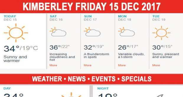 Today in Kimberley South Africa - Weather News Events 2017/12/15