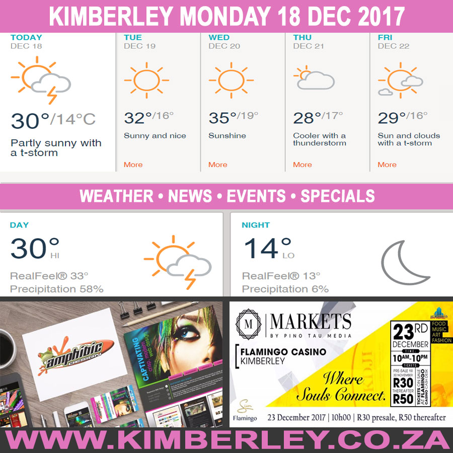 Today in Kimberley South Africa - Weather News Events 2017/12/17