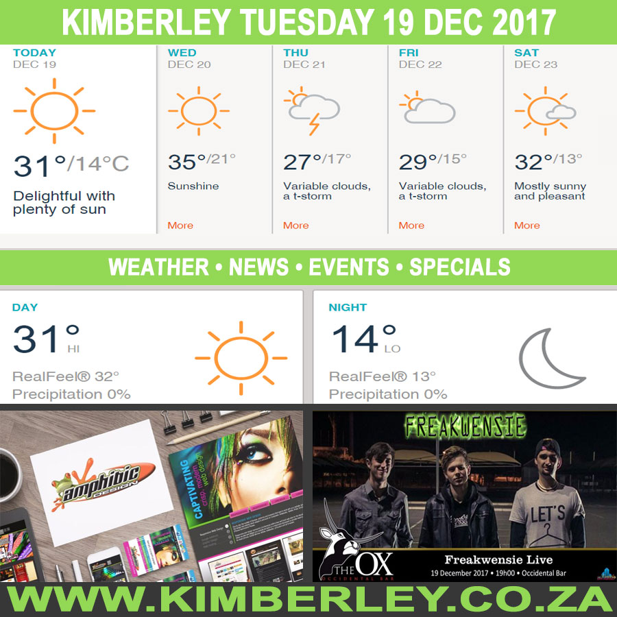 Today in Kimberley South Africa - Weather News Events 2017/12/19