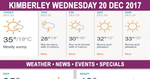 Today in Kimberley South Africa - Weather News Events 2017/12/20