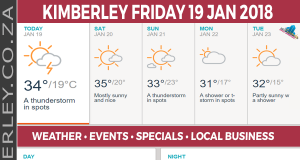Today in Kimberley South Africa - Weather News Events 2018/01/19