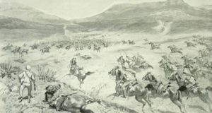 PT-Artists_Impression_of_Cavalry_that_charged_throgh_the_Boer_Lines-1900
