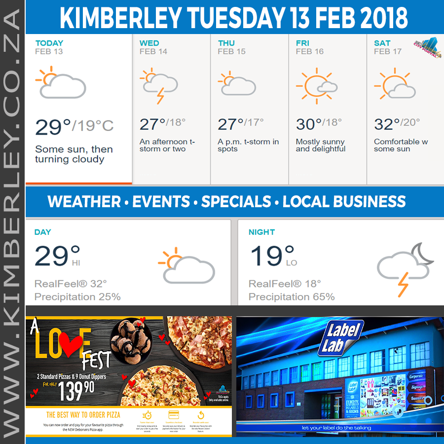 Today in Kimberley South Africa - Weather News Events 2018/02/13