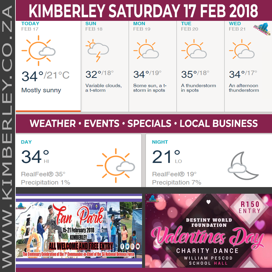 Today in Kimberley South Africa - Weather News Events 2018/02/17