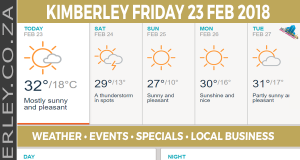 Today in Kimberley South Africa - Weather News Events 2018/02/23