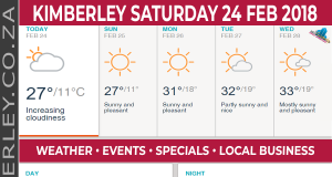 Today in Kimberley South Africa - Weather News Events 2018/02/24