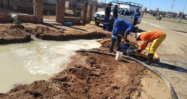 Pipe Burst Adam Namakola Sol Plaatje Water