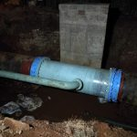 Final repair on 900mm line near the new mental hospital