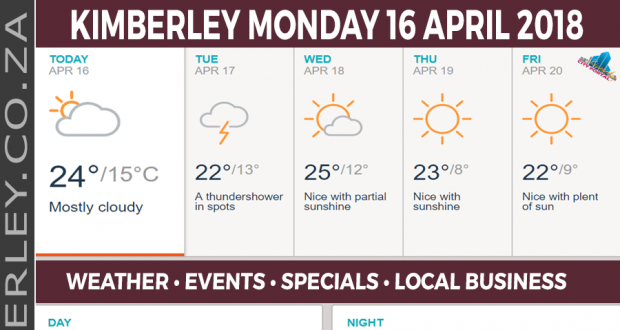 Today in Kimberley South Africa - Weather News Events 2018/04/16