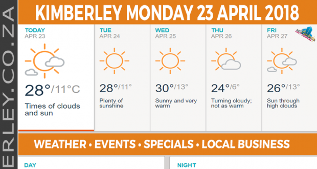 Today in Kimberley South Africa - Weather News Events 2018/04/23