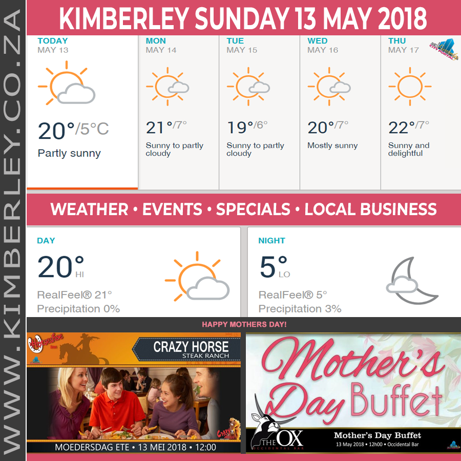 Today in Kimberley South Africa - Weather News Events 2018/05/12