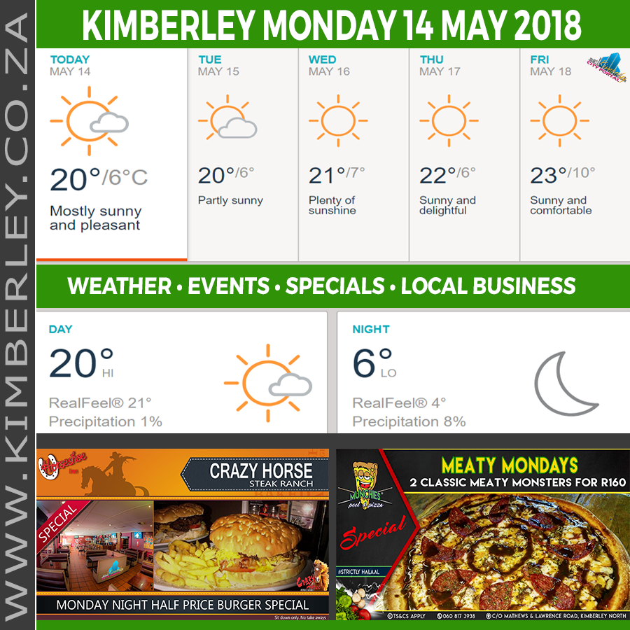 Today in Kimberley South Africa - Weather News Events 2018/05/14