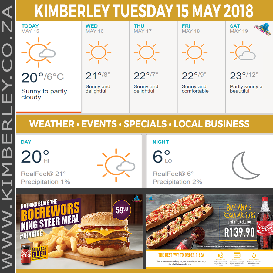 Today in Kimberley South Africa - Weather News Events 2018/05/15