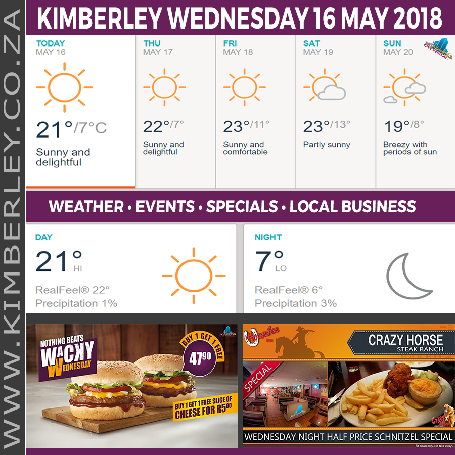 Today in Kimberley South Africa - Weather News Events 2018/05/16