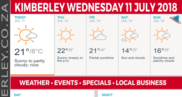 Today in Kimberley South Africa - Weather News Events 2018/07/11