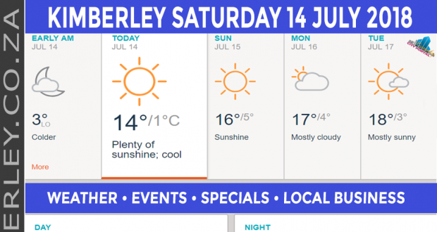 Today in Kimberley South Africa - Weather News Events 2018/07/14
