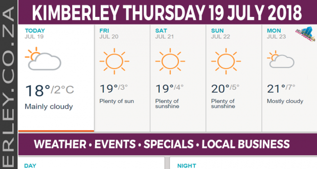 Today in Kimberley South Africa - Weather News Events 2018/07/19