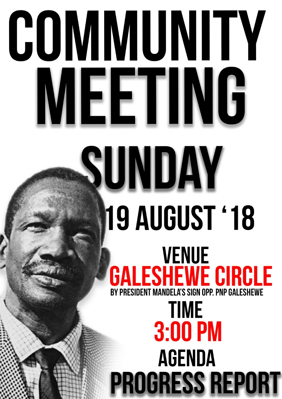 Kimberley Shutdown Community Meeting - 19/08/2018