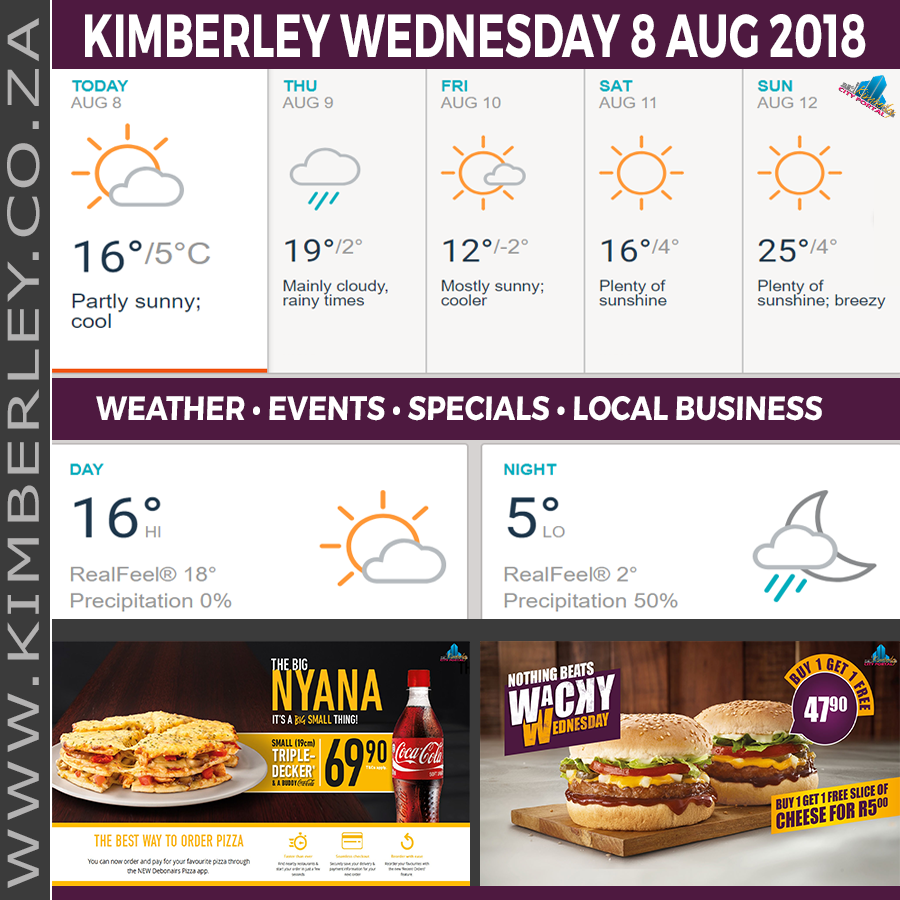 Today in Kimberley South Africa - Weather News Events 2018/08/08
