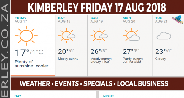 Today in Kimberley South Africa - Weather News Events 2018/08/17