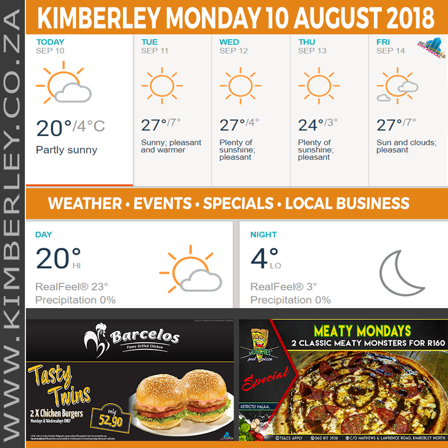 Today in Kimberley South Africa - Weather News Events 2018/09/10
