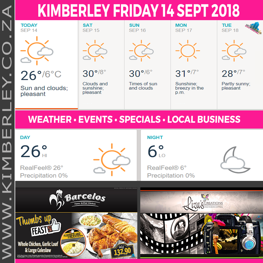 Today in Kimberley South Africa - Weather News Events 2018/09/14