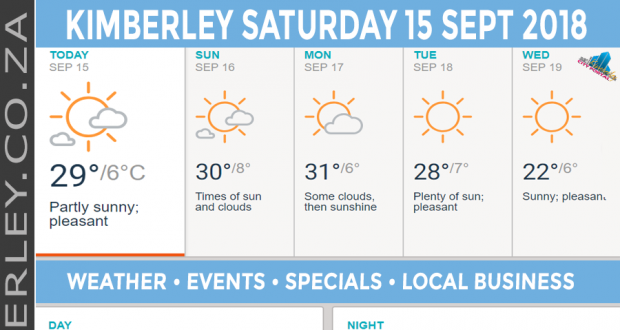 Today in Kimberley South Africa - Weather News Events 2018/09/15
