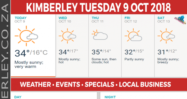 Today in Kimberley South Africa - Weather News Events 2018/10/09