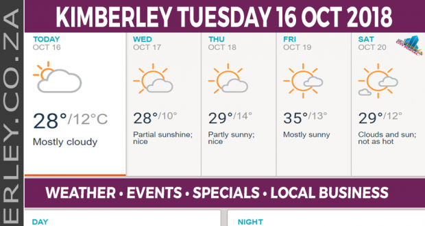 Today in Kimberley South Africa - Weather News Events 2018/10/16