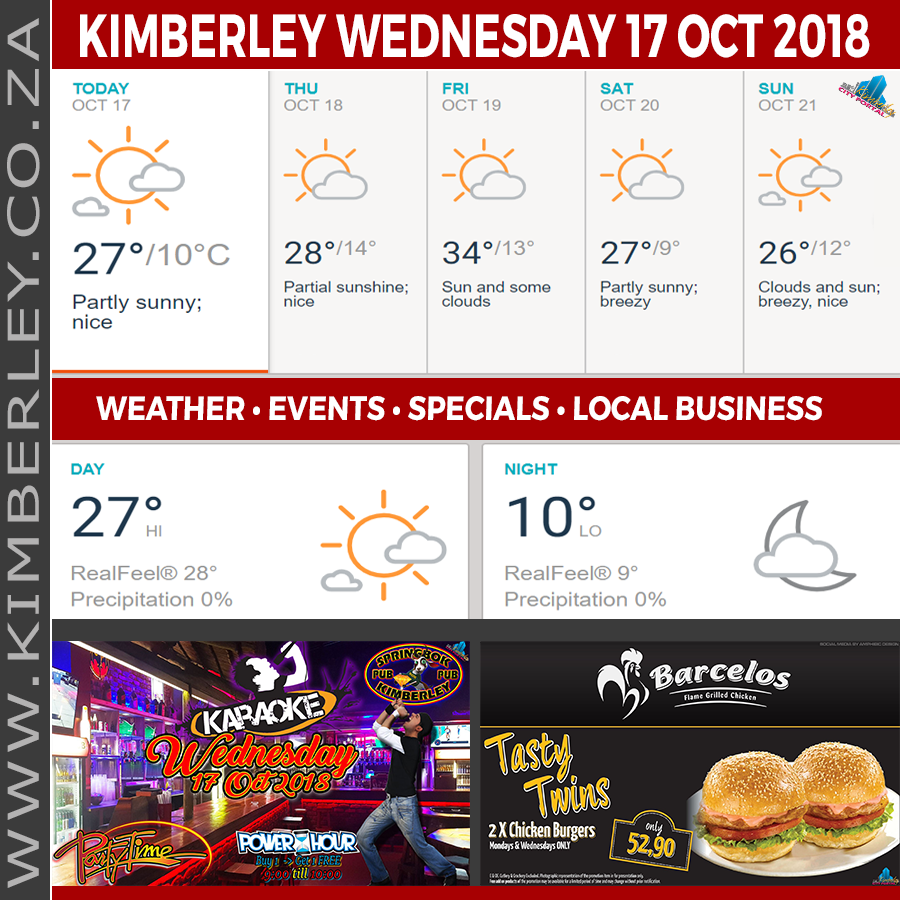 Today in Kimberley South Africa - Weather News Events 2018/10/17