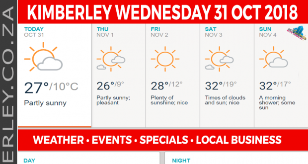 Today in Kimberley South Africa - Weather News Events 2018/10/31