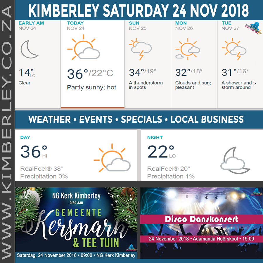 Today in Kimberley South Africa - Weather News Events 2018/11/24