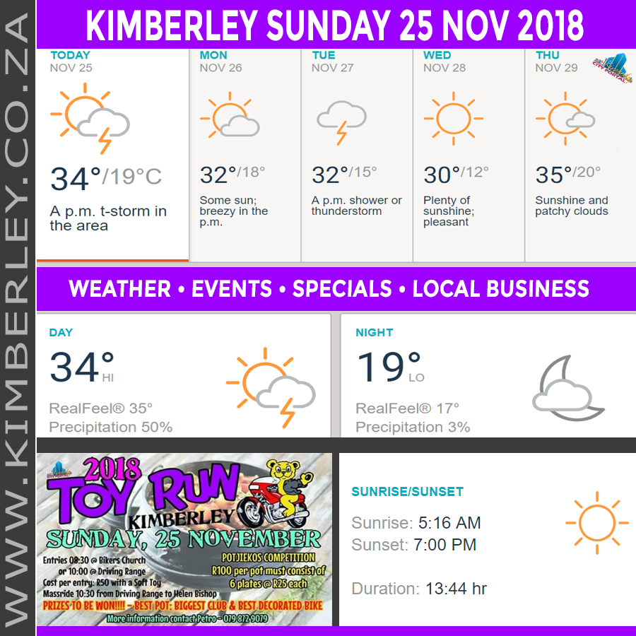 Today in Kimberley South Africa - Weather News Events 2018/11/25