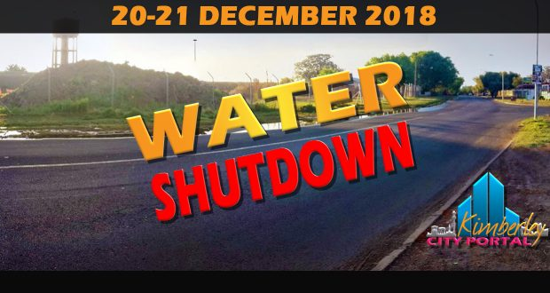 Kimberley Water Shutdown December 2018