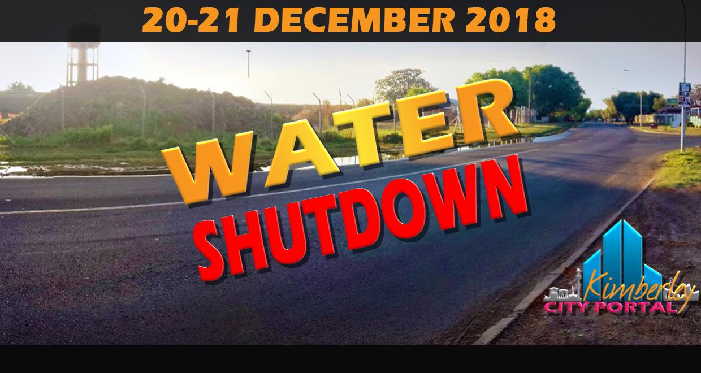 Kimberley Water Shutdown December 2018