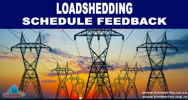 Kimberley Sol Plaatje Loadshedding Area Feedback