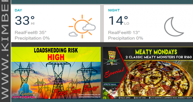 Today in Kimberley South Africa - Weather News Events 2018/12/03