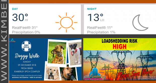 Today in Kimberley South Africa - Weather News Events 2018/12/09