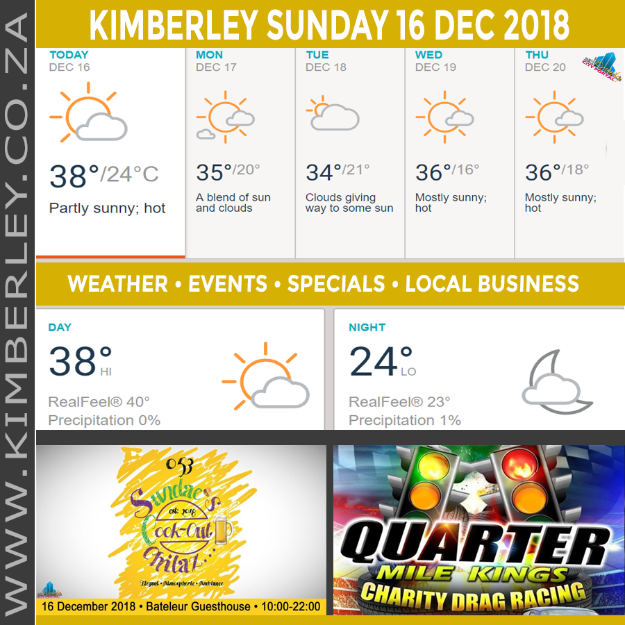 Today in Kimberley South Africa - Weather News Events 2018/12/16