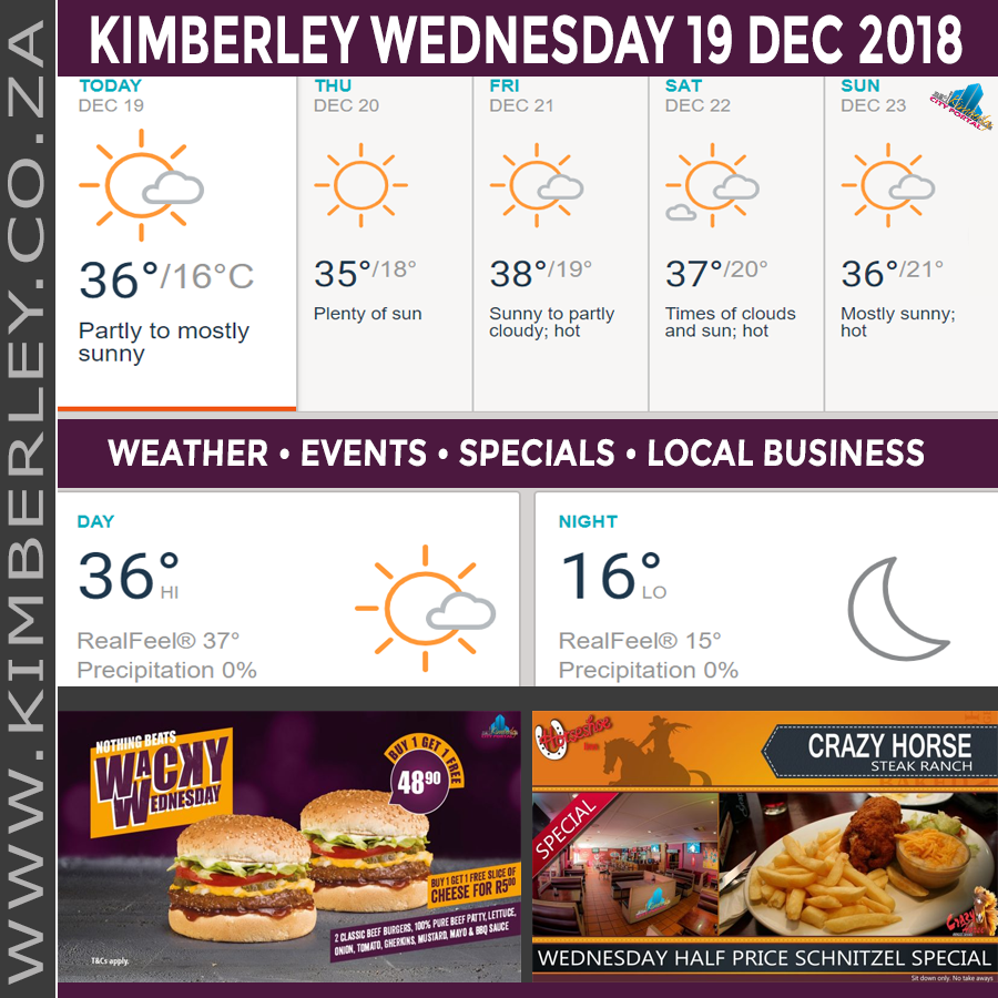 Today in Kimberley South Africa - Weather News Events 2018/12/19