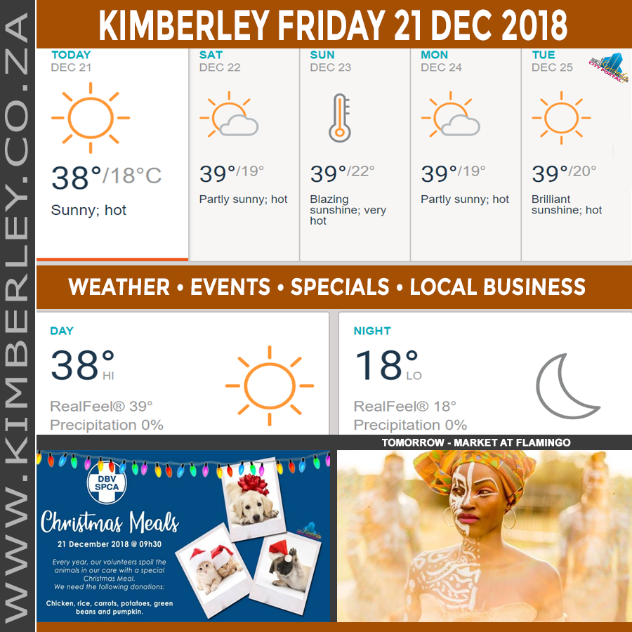 Today in Kimberley South Africa - Weather News Events 2018/12/21