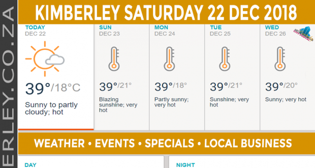 Today in Kimberley South Africa - Weather News Events 2018/12/22