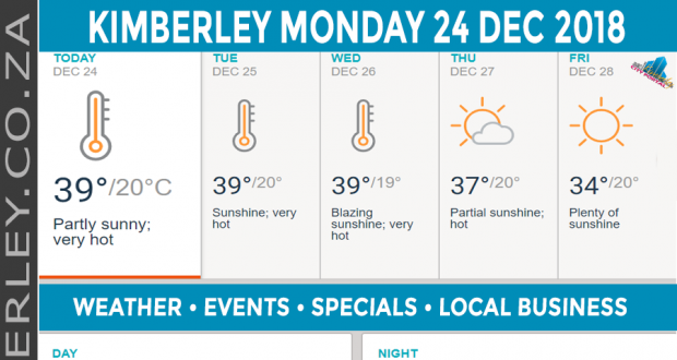 Today in Kimberley South Africa - Weather News Events 2018/12/24