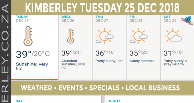 Today in Kimberley South Africa - Weather News Events 2018/12/25