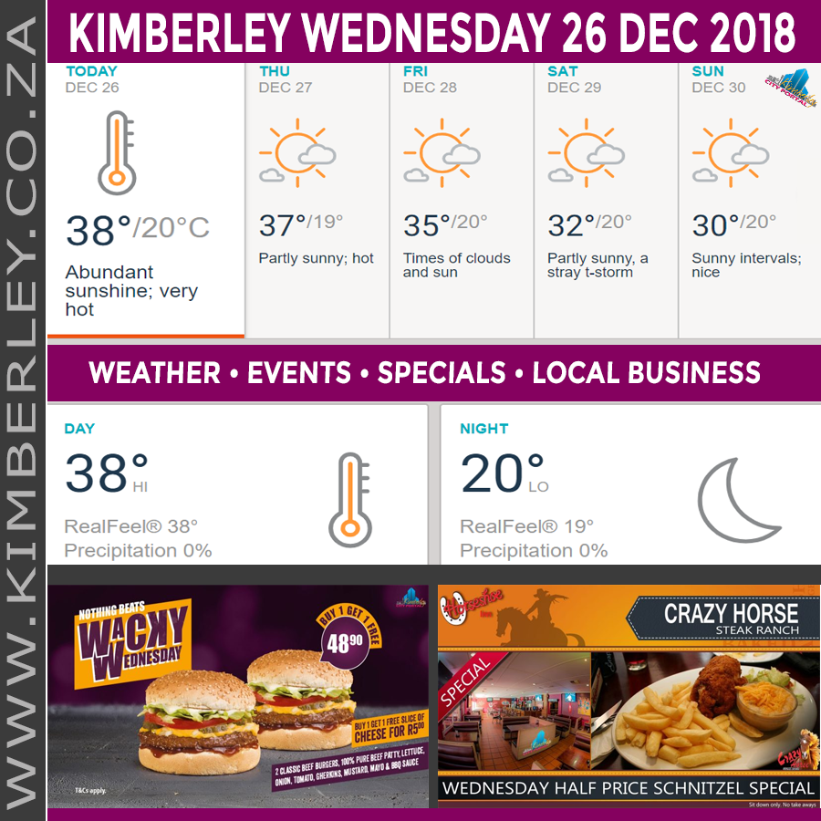 Today in Kimberley South Africa - Weather News Events 2018/12/26