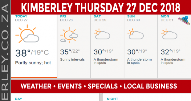 Today in Kimberley South Africa - Weather News Events 2018/12/27