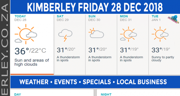 Today in Kimberley South Africa - Weather News Events 2018/12/28