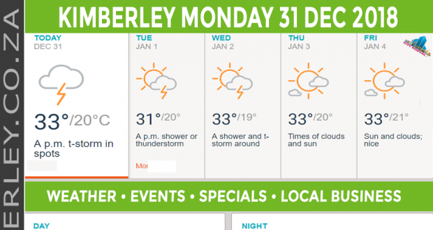 Today in Kimberley South Africa - Weather News Events 2018/12/31