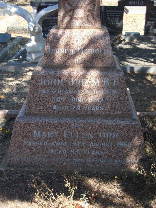 John Orr Gravestone