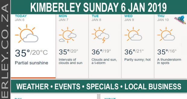 Today in Kimberley South Africa - Weather News Events 2019/01/06